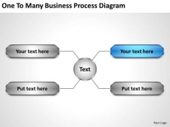 Developing Business Strategy One To Many Process Diagram Concepts
