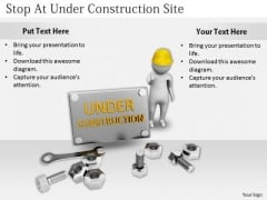 Developing Business Strategy Stop Under Construction Site Adaptable Concepts