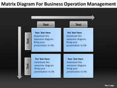 Diagram For Business Operation Management Ppt Plan Professional PowerPoint Templates