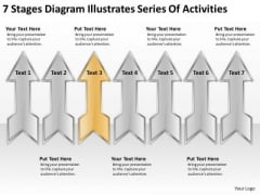 Diagram Illustrates Series Of Activities Business Plans For Start Ups PowerPoint Templates