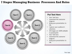 Diagram Of The Business Cycle Presentation Processes And Roles PowerPoint Templates