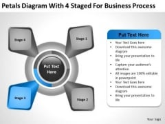 Diagram With 4 Staged For Business Process Ppt Exit Strategy Plan PowerPoint Slides