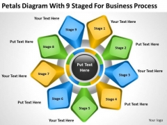 Diagram With 9 Staged For Business Process Ppt How Do Make Plan PowerPoint Slides