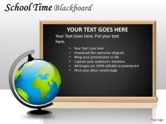 Dictionary School Time Blackboard PowerPoint Slides And Ppt Diagram Templates