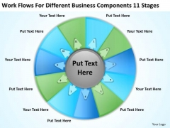 Different Business Components 11 Stages Ppt Plan PowerPoint Slides