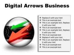 Digital Arrows Business PowerPoint Presentation Slides C