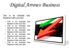Digital Arrows Business PowerPoint Presentation Slides F