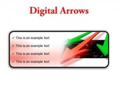 Digital Arrows Business PowerPoint Presentation Slides R