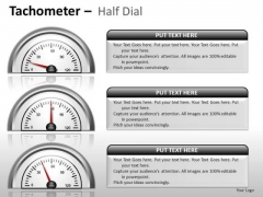 Digital Tachometer Half Dial PowerPoint Slides And Ppt Diagram Templates