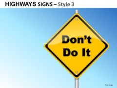 Direction Highways Signs 3 PowerPoint Slides And Ppt Diagram Templates