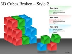 Disintegrating System Cube Diagram PowerPoint Slides