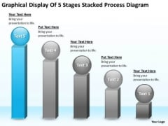 Display Of 5 Stages Stacked Process Diagram Ppt Business Continuity Plan PowerPoint Slides