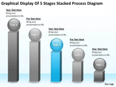 Display Of 5 Stages Stacked Process Diagram Ppt Developing Business Plan PowerPoint Slides