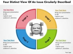 Distinct View Of An Issue Circularly Described Flow Chart PowerPoint Templates