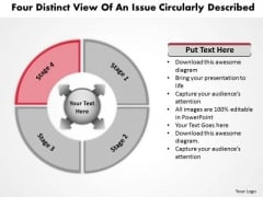Distinct View Of An Issue Circularly Described Flow Process PowerPoint Templates