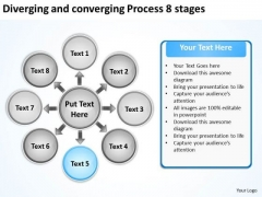 Diverging And Converging Process 8 Stages Circular PowerPoint Templates