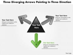 Diverging Arrows Pointing Direction5 Arrows Relative Circular Diagram PowerPoint Templates