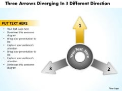 Diverging Arrows Pointing Direction Ppt 2 Relative Cycle Chart PowerPoint Slides