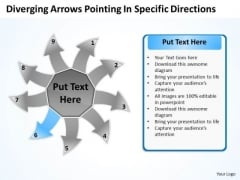 Diverging Arrows Pointing Specific Directions Circular Cycle Process PowerPoint Slides