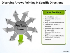 Diverging Arrows Pointing Specific Directions Ppt Cycle Process PowerPoint Slide