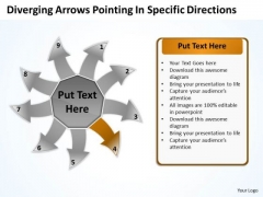 Diverging Arrows Pointing Specific Directions Ppt Cycle Process PowerPoint Slides
