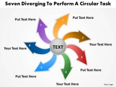 Diverging Steps To Perform A Circular Task Layout Diagram PowerPoint Templates