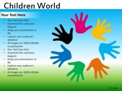 Diverse Colors Kids PowerPoint Ppt Templates