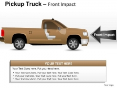 Division Pickup Brown Truck Side View PowerPoint Slides And Ppt Diagram Templates