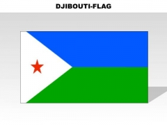 Djibouti Country PowerPoint Flags