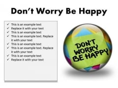 Do Not Worry Note Metaphor PowerPoint Presentation Slides C