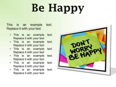 Do Not Worry Note Metaphor PowerPoint Presentation Slides F