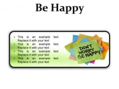 Do Not Worry Note Metaphor PowerPoint Presentation Slides R
