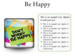 Do Not Worry Note Metaphor PowerPoint Presentation Slides S