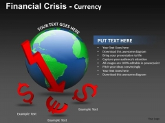 Dollar Euro Decline Finance PowerPoint Templates