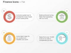 Dollar Symbol Coins Banking Target Ppt Slides Graphics