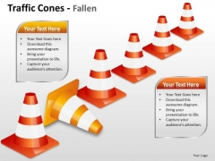 Domain Traffic Cones PowerPoint Slides And Ppt Diagram Templates
