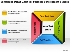 Donut Chart For Business Development 4 Stages Plan Excel PowerPoint Templates