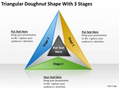 Doughnut Shape With 3 Stages Ppt How To Construct Business Plan PowerPoint Templates