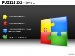 Download 4 Jigsaw Puzzles Team PowerPoint Slides And Editable Ppt Templaes