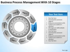 Download Process Management With 10 Stages Creating Business PowerPoint Templates