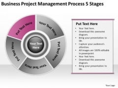 Download Project Management Process 5 Stages Business Plan Examples PowerPoint Slides