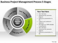 Download Project Management Process 5 Stages Business Plan How To PowerPoint Templates