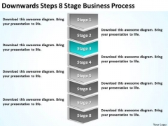 Downwards Steps 8 Stage Business Process Ppt Basic Plan Template PowerPoint Slides