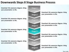 Downwards Steps 8 Stage Business Process Ppt Busniess Plan PowerPoint Slides