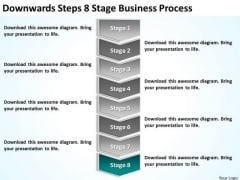Downwards Steps 8 Stage Business Process Ppt Plan Model PowerPoint Slides