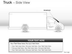 Drive Blue Truck Side View PowerPoint Slides And Ppt Diagram Templates