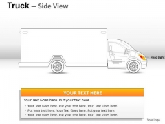 Driver Yellow Truck PowerPoint Slides And Ppt Diagram Templates
