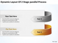Dynamic Layout Of 2 Stage Parallel Process Business Plan Form PowerPoint Slides