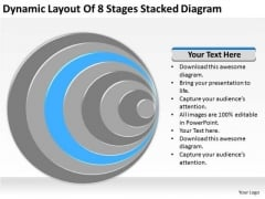 Dynamic Layout Of 8 Stages Stacked Diagram Business Plan Draft PowerPoint Templates