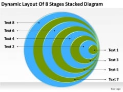 Dynamic Layout Of 8 Stages Stacked Diagram Ppt Download Business Plan Template PowerPoint Slides